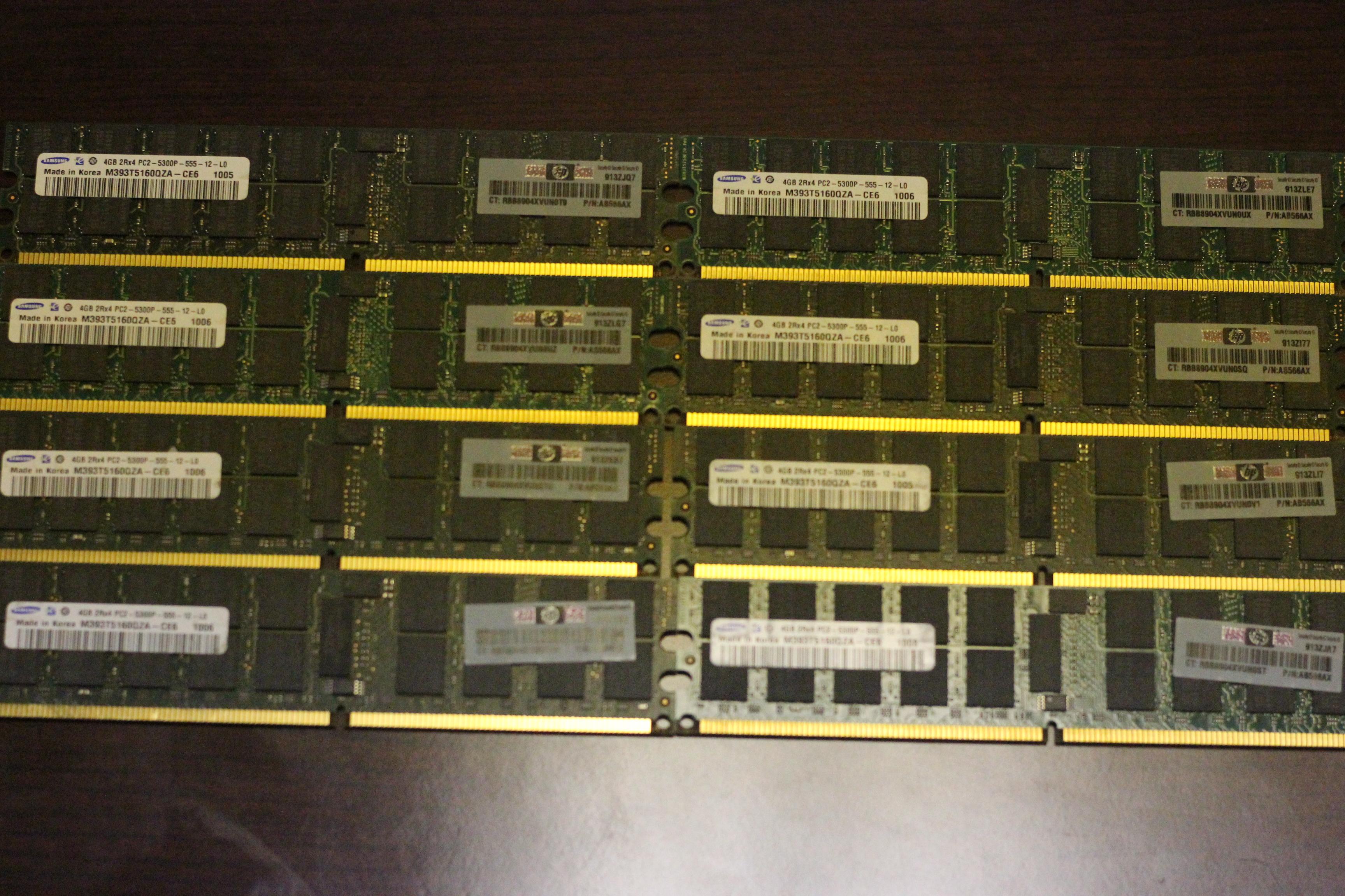 Server Ram 32gb 8x 4gb Pc2 5300p Ecc Reg Ddr2 667 Pc5300